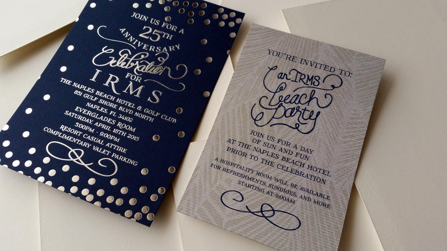 Corporate Party Invitation | Custom Invitations | Locust Street Press